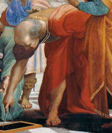 Detail from Raphael's The School of Athens in the
