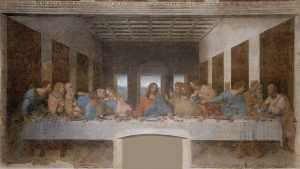 The Last Supper, Leonardo da Vinci, 1945, Santa Maria della Grazie, Milan