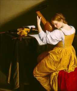 The Lute Player by Orazio Gentileschi, ca. 1612, National Gallery of Art, Washington, D.C.