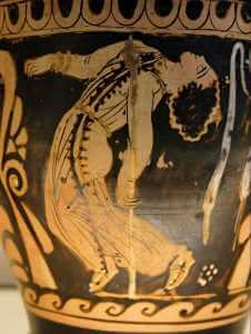 Dancing Maenad from a Red-figure skyphos, painted by Python, ca. 330 B.C., British Museum, London