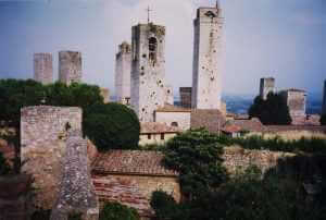 Towers of San Gimignano, Tuscany, Italy. Photography by Robert F. Scarr