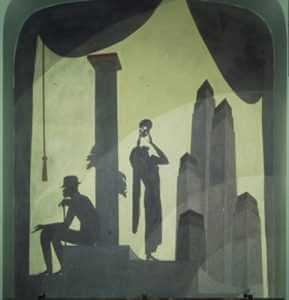 Drama, by Aaron Douglas, Cravath Building Murals, Fisk University, Nashville