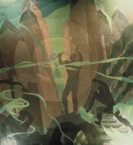Song of the Towers, by Aaron Douglas, from Aspects of Negro Life, Schomburg Center, New York Public Library