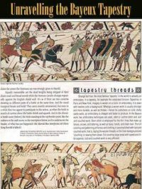Bayeux Tapestry battle scenes of Norman cavalry fighting Saxon foot soldiers