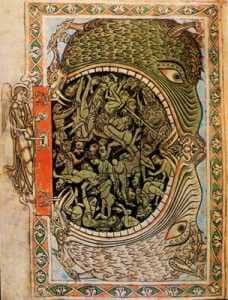 The Jaws of Hell, Winchester Psalter, 1150-1160, British Library