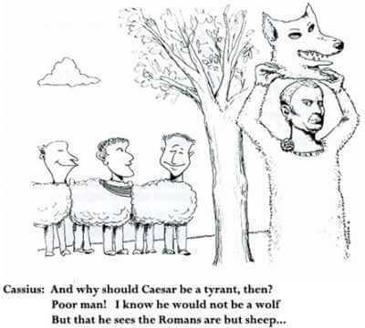 A NEXUS cartoon by Phil Newman of a passage from Shakespeare's Julius Caesar