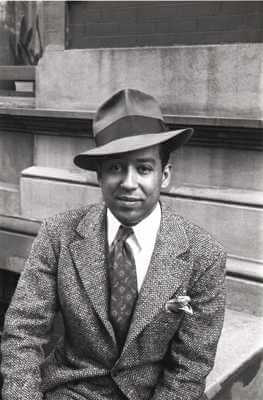 Langston Hughes, Photograph by Carl Van Vechten, 1939, Beinecke Rare Book and Manuscript Collection, Yale Univerity