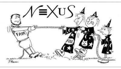 "NEXUS Illustration of Macbeth quote, ""fair is foul and foul is fair"""