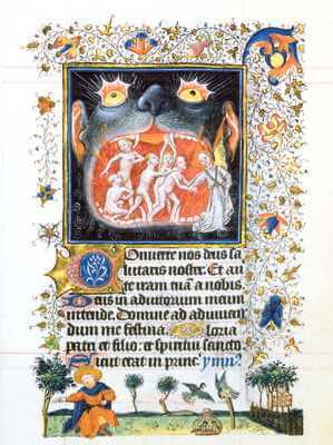 The Release of Souls from the Mouth of Hell, from the Book of Hours of Catherine of Cleve, ca. 1440, Utrecht, Pierpont Morgan Library, New York