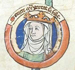 Portrait of Saint Margaret of Scotland, 13th century