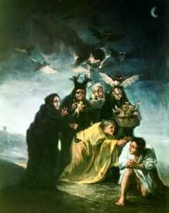 "The Witches Sabbath, Francisco Goya, 1798, Museo Lazaro Galdiano, Madrid, from NEXUS ""Cauldron of Chaos"""