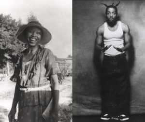 Photograph of Zora Neale Hurston (Library of Congress) and rapper Coolio, courtesy of Tommy Boy Music, photo by Albert Watson